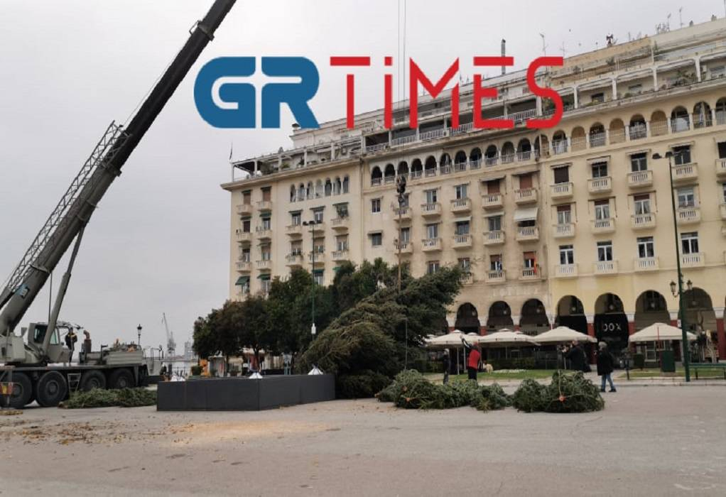 Θεσσαλονίκη: Έτσι στολίζεται για τα Χριστούγεννα η πλατεία Αριστοτέλους (ΦΩΤΟ+VIDEO)