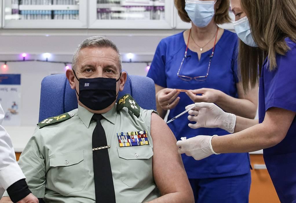 Το εμβόλιο έκανε και ο Αρχηγός ΓΕΕΘΑ, Κ. Φλώρος