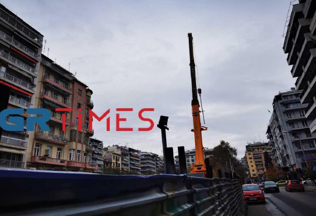Θεσσαλονίκη: «Έφυγε» ο τεράστιος γερανός από τον σταθμό «Αγία Σοφία» (ΦΩΤΟ+VIDEO)