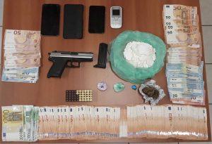 Όπλο αστυνομικού βρέθηκε σε διακινητές ναρκωτικών στην Ημαθία