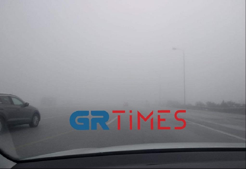 """""""Χάθηκε"""" η Εθνική Οδός από την ομίχλη (VIDEO)"""