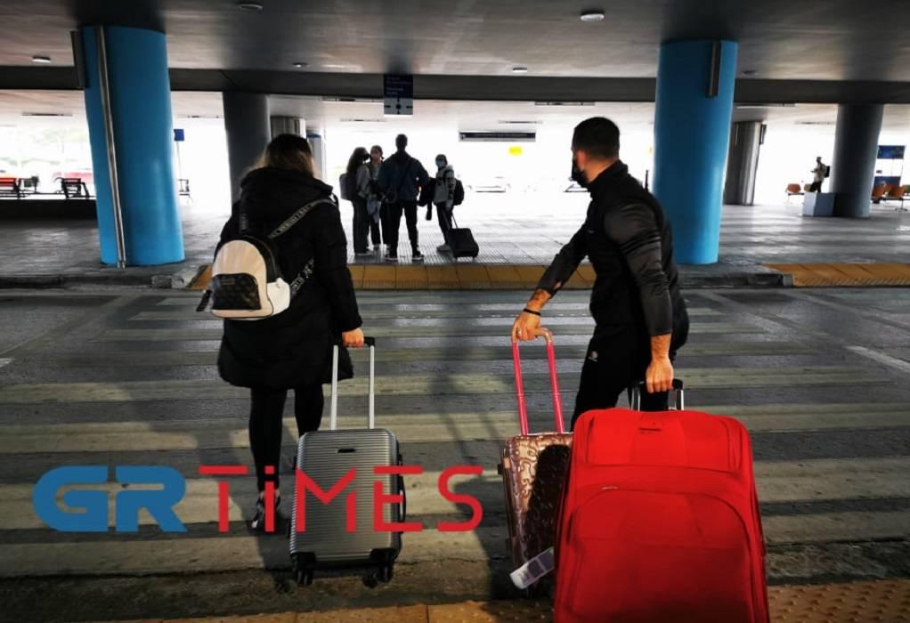 Στη Θεσσαλονίκη επιβάτες από το Λονδίνο – Σε επταήμερη καραντίνα (ΦΩΤΟ+VIDEO)