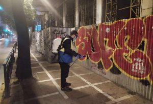 Επιχείρηση αντιγκράφιτι στο κέντρο από το Δήμο Αθηναίων (ΦΩΤΟ)
