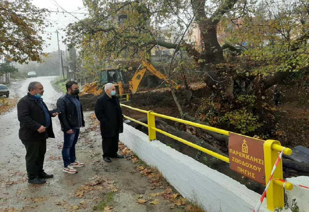 Άρχισαν τα έργα για την ανάπλαση της περιοχής του «Αθάνατου Νερού» στο Μελισσοχώρι