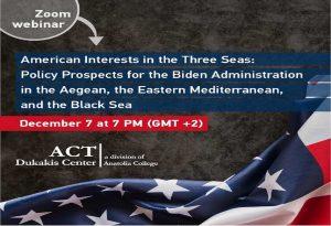 Διαδικτυακή εκδήλωση «Τα Αμερικανικά Συμφέροντα στις Τρεις Θάλασσες»