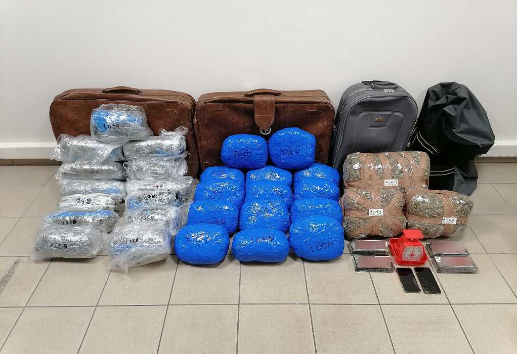 Σύλληψη μελών διεθνούς κυκλώματος – Τους τσάκωσαν με 38 κιλά κάνναβης (ΦΩΤΟ)