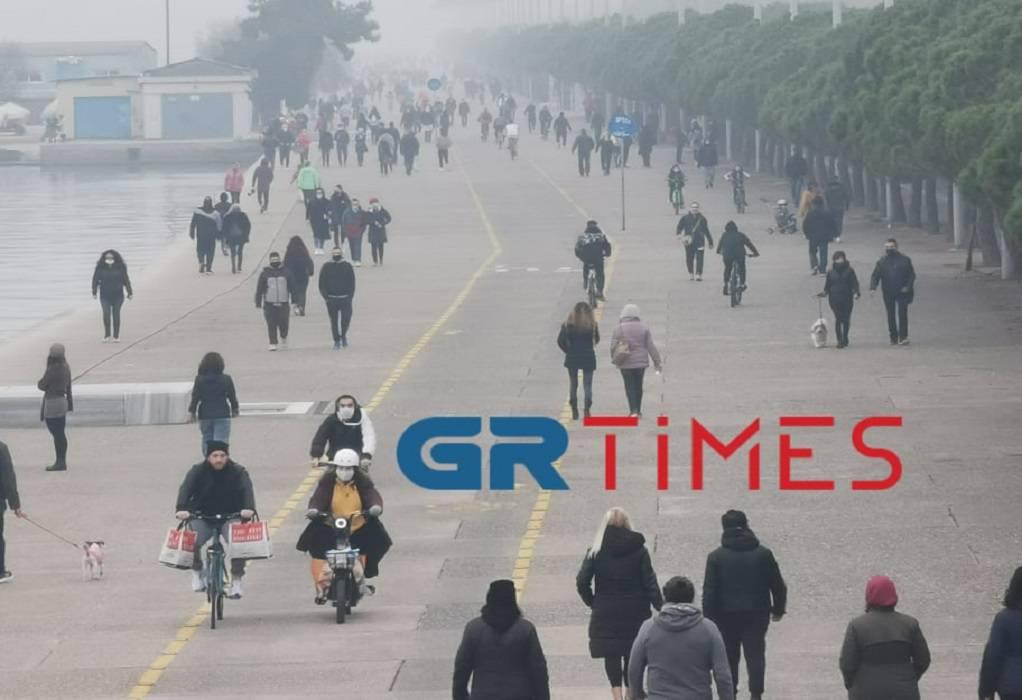 """Θεσσαλονίκη: """"Γέμισε"""" κόσμο η Νέα Παραλία (ΦΩΤΟ)"""