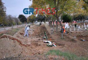Θεσσαλονίκη: Ανοίγουν 300 νέοι τάφοι για θύματα κορωνοϊού (ΦΩΤΟ+VIDEO)