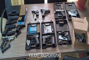 Συλλήψεις για παράνομη κατοχή όπλων και φυσιγγίων κρότου