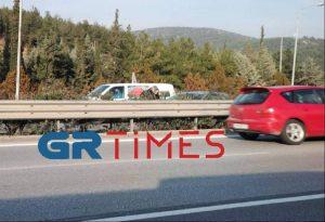 Τροχαίο ατύχημα στην Περιφερειακή Οδό Θεσσαλονίκης