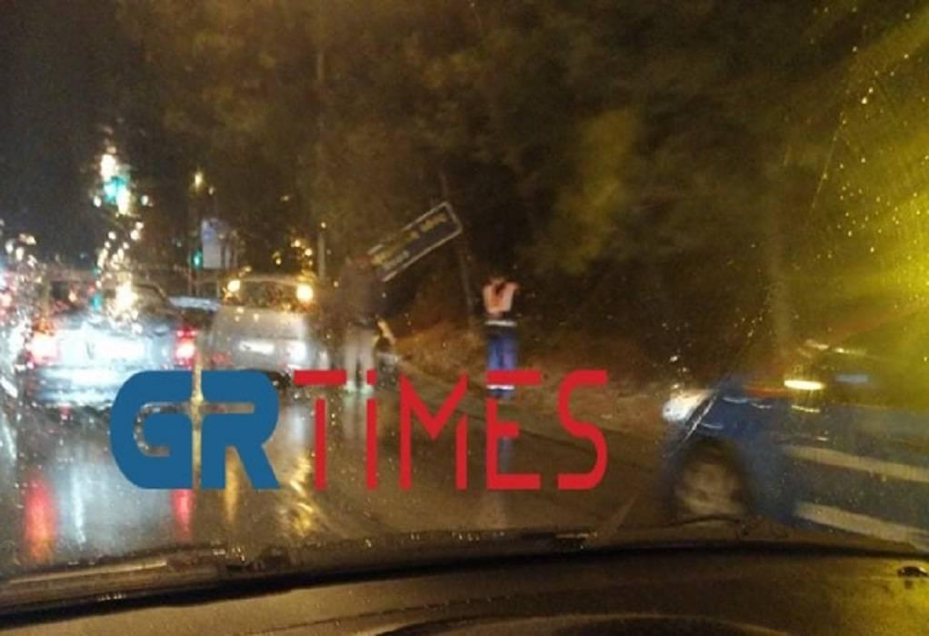 Νεάπολη: Τροχαίο στην έξοδο προς περιφερειακή (ΦΩΤΟ)