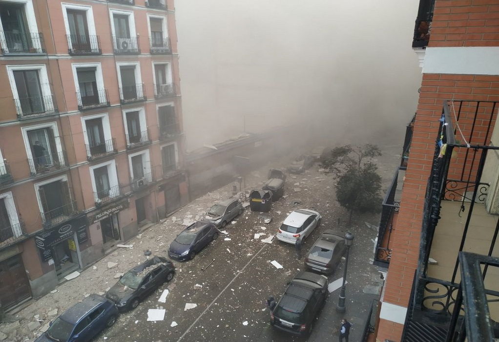 Ισχυρή έκρηξη στη Μαδρίτη – Δύο νεκροί (VIDEO)