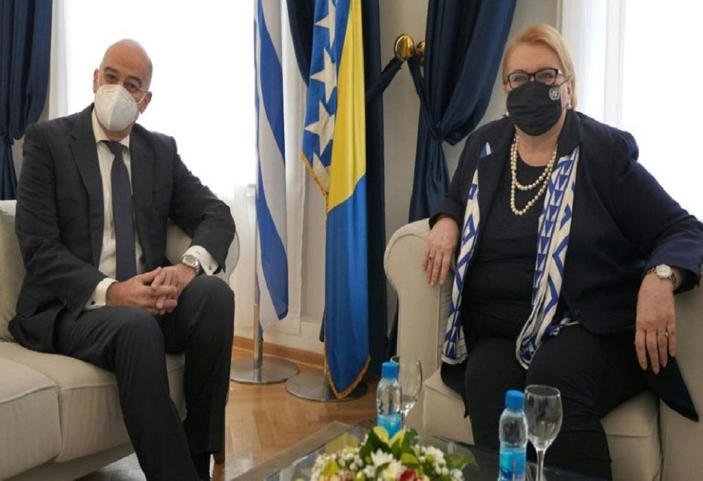 Δένδιας από Βοσνία: Στηρίζουμε σταθερά την ευρωπαϊκή πορεία των Δυτ. Βαλκανίων