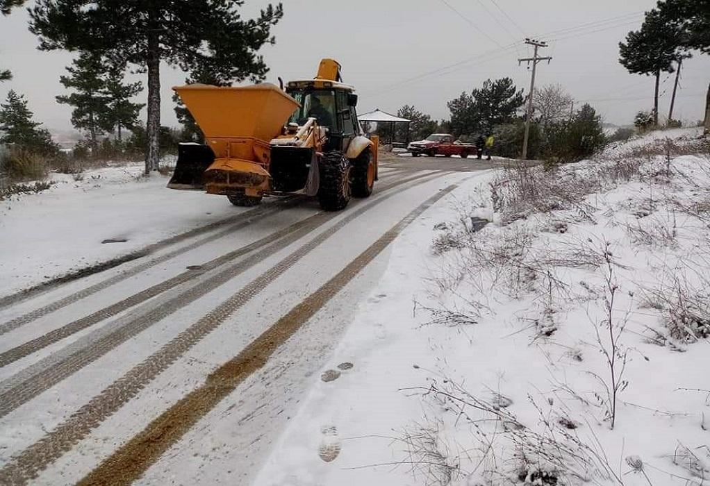 Δήμος Αριστοτέλη: Μεγάλη κινητοποίηση για την αντιμετώπιση της χιονόπτωσης