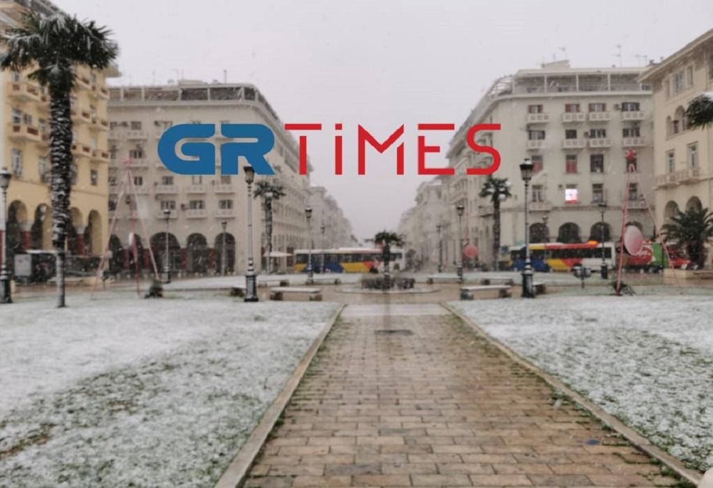 Στα λευκά η Θεσσαλονίκη (ΦΩΤΟ-VIDEO)