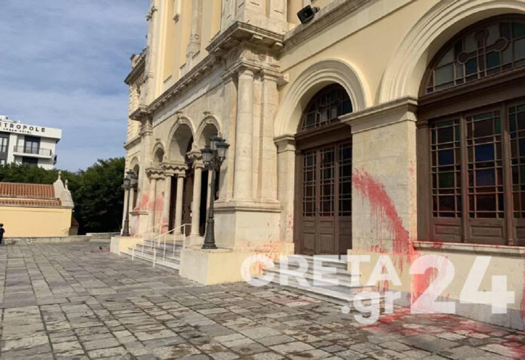 Ηράκλειο: Βανδάλισαν τον ναό του Αγίου Μηνά