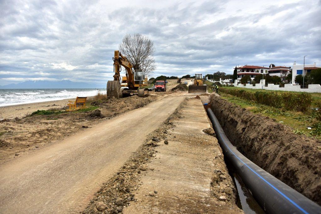 Σε εξέλιξη η κατασκευή αγωγού για πόσιμο νερό στη Ν.Καλλικράτεια