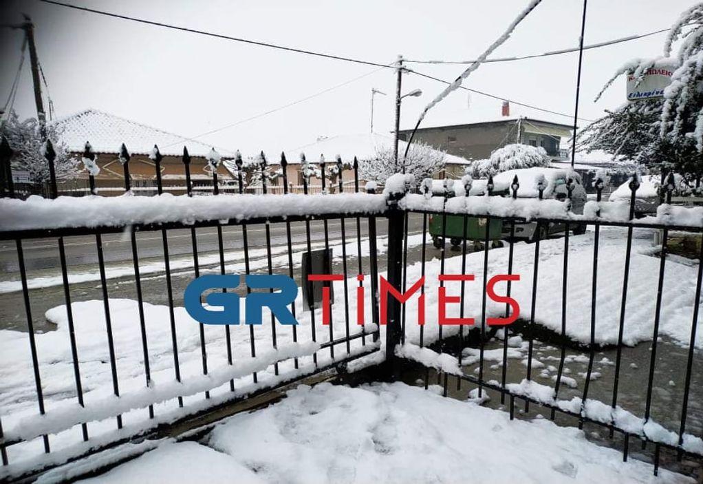 Αλεξάνδρεια Ημαθίας: Έντονη χιονόπτωση και διακοπές ρεύματος (ΦΩΤΟ)