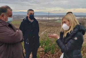 Επίσκεψη Αραμπατζή στις πληγείσες περιοχές Σερρών