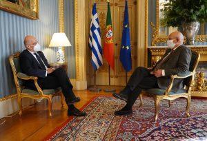 Συνάντηση Δένδια με Πορτογάλο ΥΠΕΞ