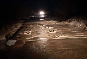 Θεσσαλονίκη: Υπερχείλισε ο Γαλλικός Ποταμός- Έκλεισε επαρχιακή οδός