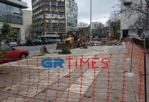 Θεσσαλονίκη: Ξεκίνησε η ανάπλαση της περιοχής των δικαστηρίων (ΦΩΤΟ)