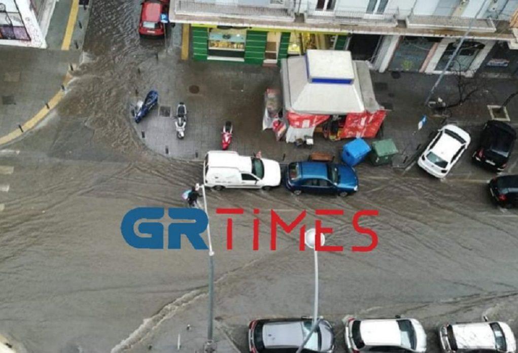 Καταρρακτώδης βροχή έπληξε τη Θεσσαλονίκη (ΦΩΤΟ-VIDEO)