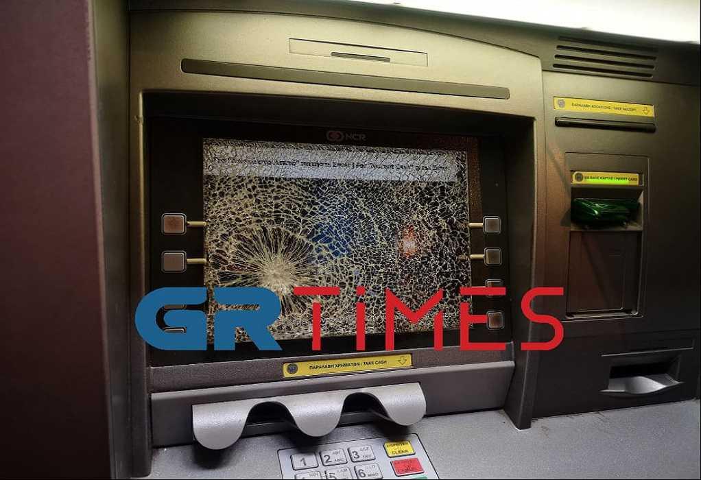 Θεσσαλονίκη: Άγνωστοι έσπασαν οθόνες ΑΤΜ