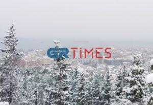 «Παγωμένη» η Περιφερειακή Οδός της Θεσσαλονίκης (VIDEO)