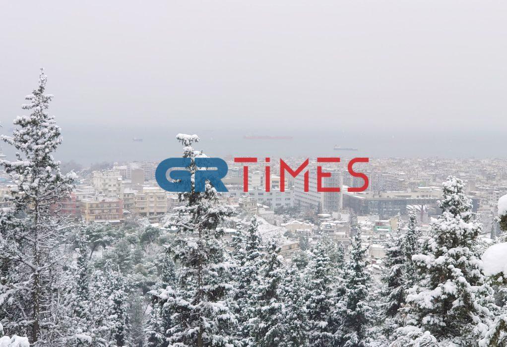 """""""Παγωμένη"""" η Περιφερειακή Οδός της Θεσσαλονίκης (VIDEO)"""