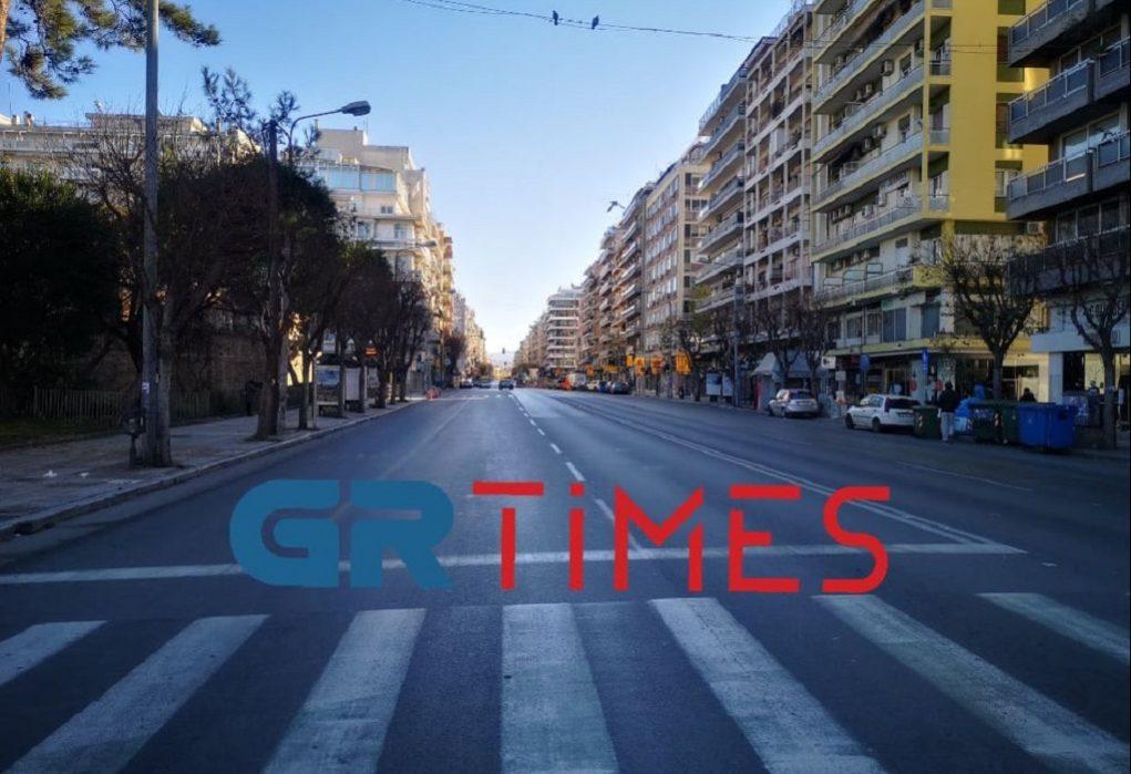 Η πρώτη βόλτα του 2021 στην άδεια Θεσσαλονίκη (ΦΩΤΟ-VIDEO)