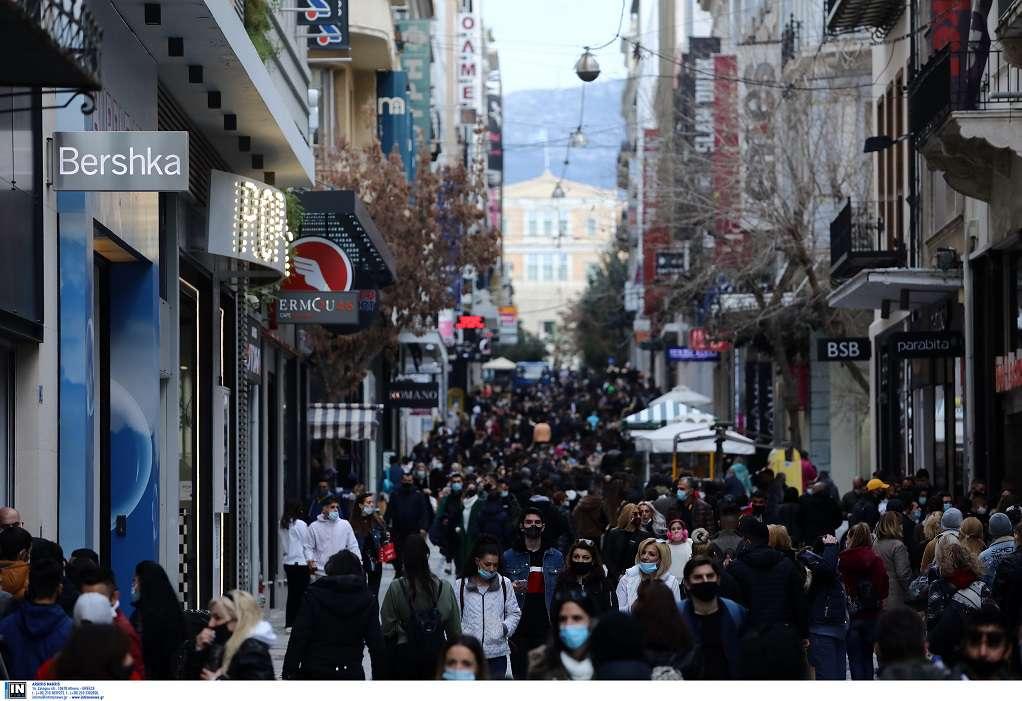 Βγήκαν για ψώνια οι Αθηναίοι – Κοσμοσυρροή στην Ερμού (ΦΩΤΟ)