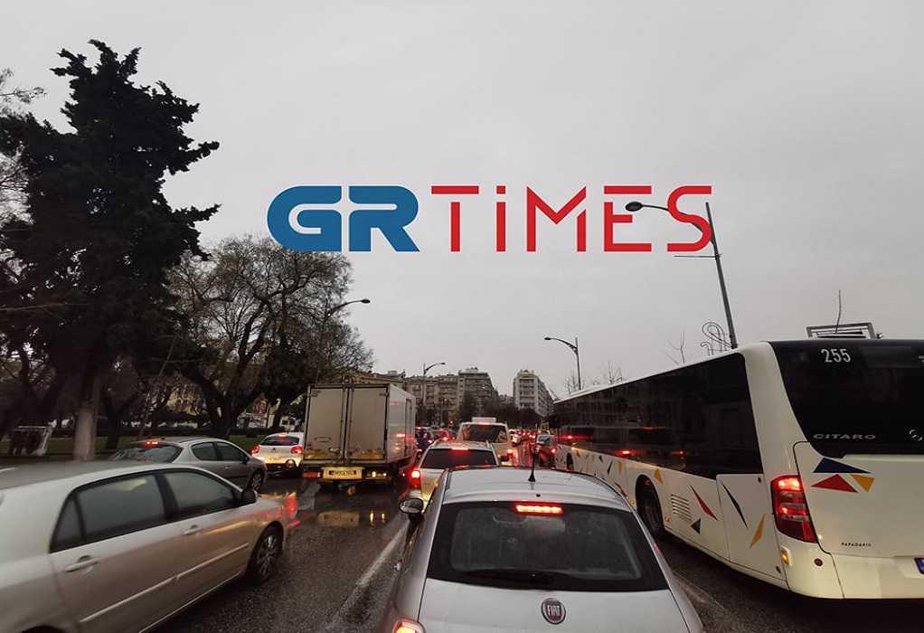 Θεσσαλονίκη: Η βροχή αύξησε την κίνηση (ΦΩΤΟ)
