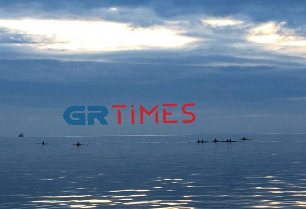 Θεσσαλονίκη: Κωπηλασία με θέα τη Νέα Παραλία (ΦΩΤΟ-VIDEO)