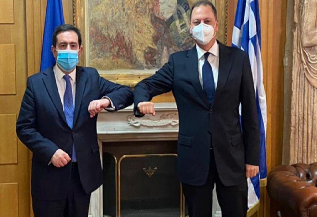 Συνάντηση Σ. Λιβανού με τον Ν. Μηταράκη