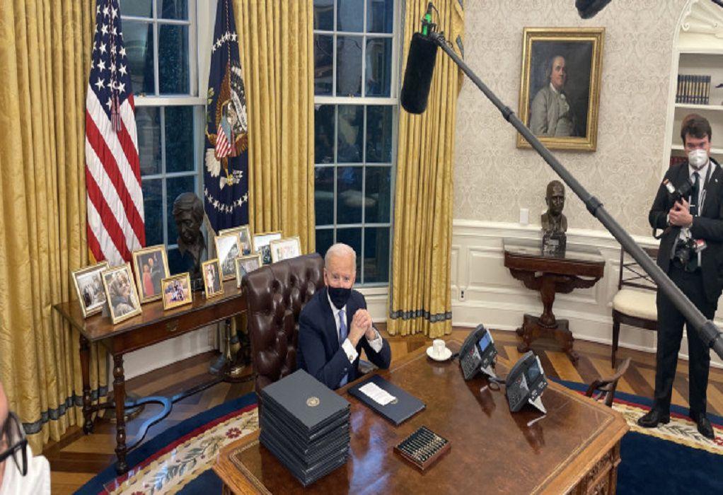 ΗΠΑ: Την επανένταξη στη συμφωνία του Παρισιού υπέγραψε ο Μπάιντεν