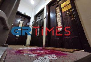 Θεσσαλονίκη: Πέταξαν μπογιές και τρικάκια σε δικηγορικό γραφείο (ΦΩΤΟ+VIDEO)