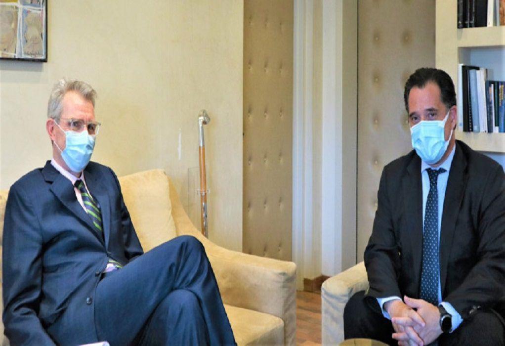 Συνάντηση Γεωργιάδη – Πάιατ: Τι συζήτησαν