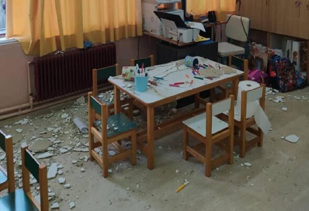 Κέρκυρα: Έπεσαν σοβάδες σε παιδικές αίθουσες νηπιαγωγείου