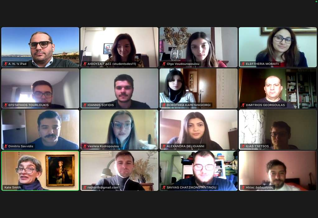 Φοιτητές του ΠΑΜΑΚ δίνουν συμβουλές εξωτερικής πολιτικής στη Βρετανίδα πρέσβη