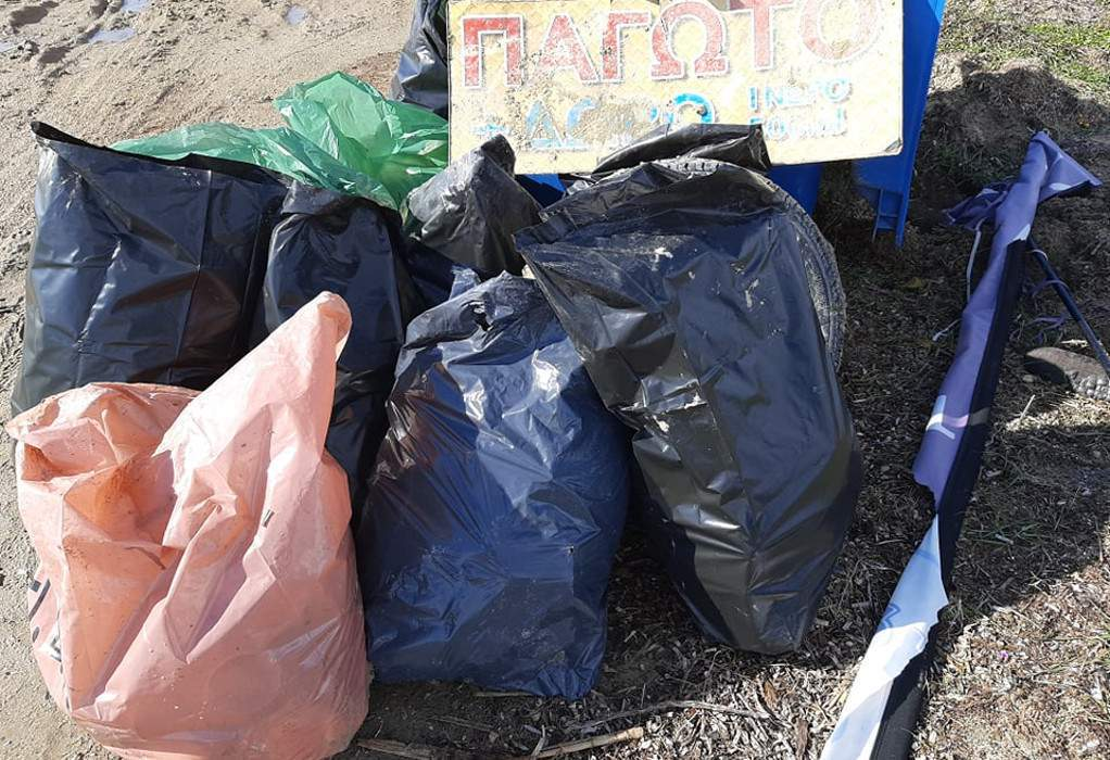 """Δ. Πολυγύρου: Εθελοντική δράση """"ΚΑΘΑΡΙζουμε"""""""