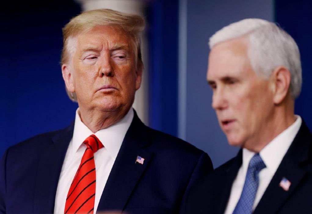 Πρώτη συνάντηση Τραμπ-Πενς μετά την εισβολή στο Καπιτώλιο