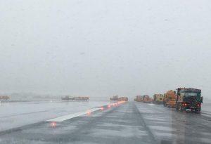 Ενεργό το snow control στο «Μακεδονία»- κανονικά οι πτήσεις