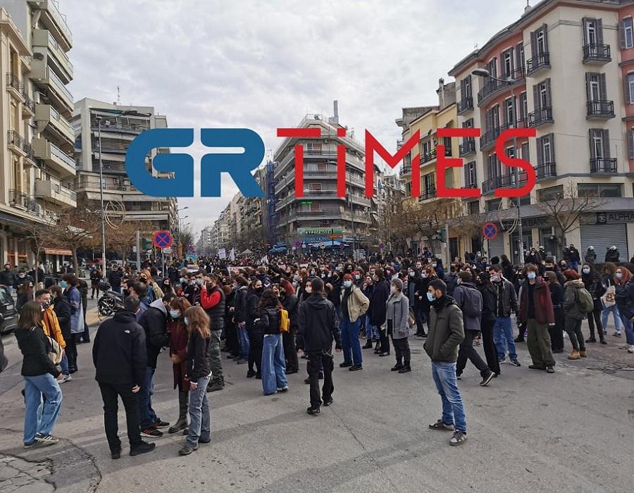 Θεσσαλονίκη: Πορεία φοιτητών κατά του νομοσχεδίου Κεραμέως (ΦΩΤΟ-VIDEO)