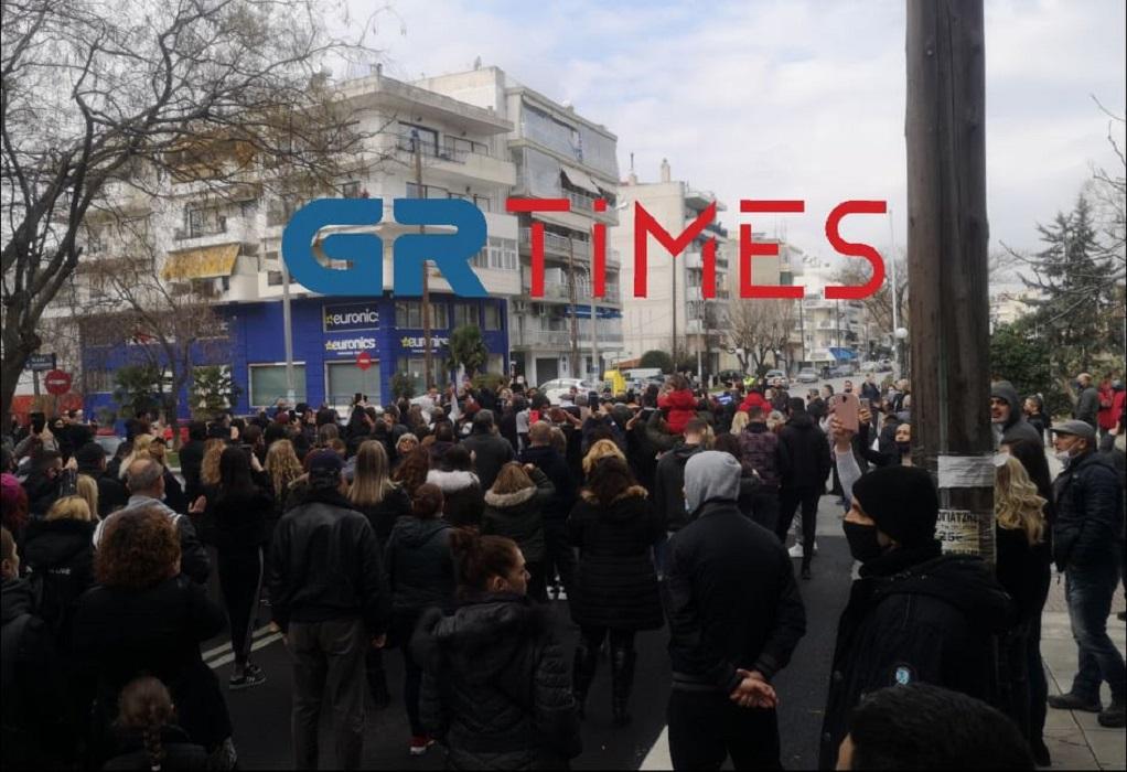 Ολοκληρώθηκε η πορεία για το lockdown στον Εύοσμο (VIDEO)