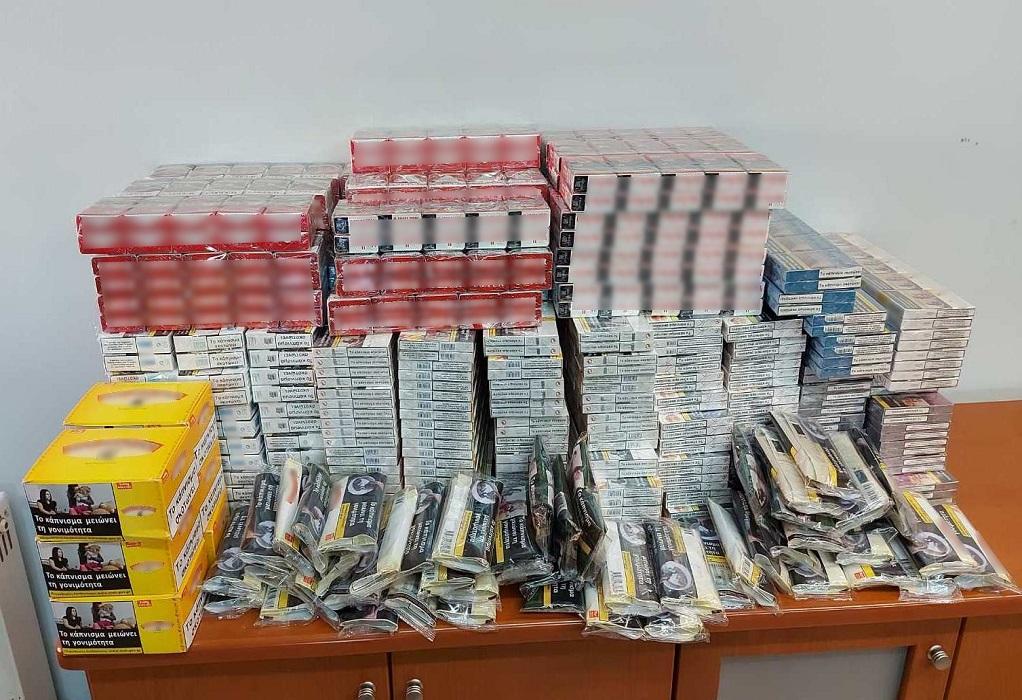 Κομοτηνή: Κατασχέθηκαν μεγάλες ποσότητες λαθραίων τσιγάρων και καπνού