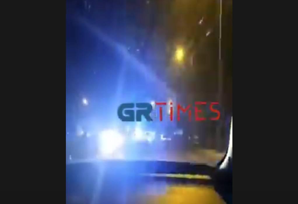Σύλληψη οδηγού μετά από καταδίωξη (VIDEO)
