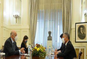 Συνάντηση Ν. Δένδια με τον πρέσβη της Ιαπωνίας