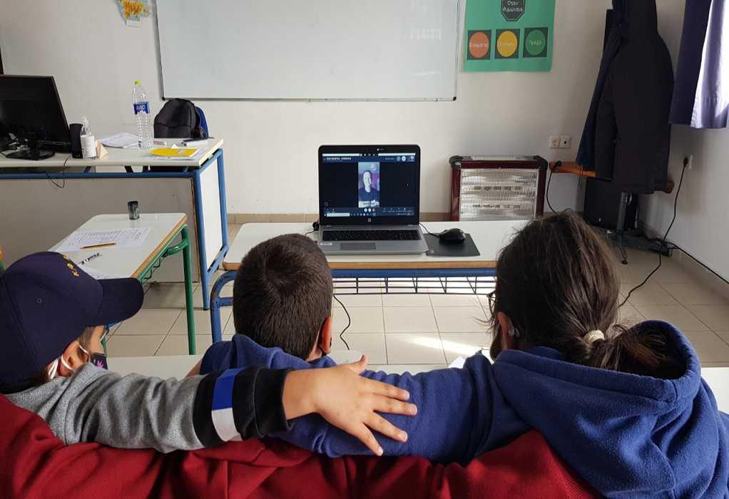«Ζήσε Αθλητικά» στο Δημοτικό σχολείο Αγαθονησίου, με την Ολυμπιονίκη, Κατερίνα Νικολαΐδου