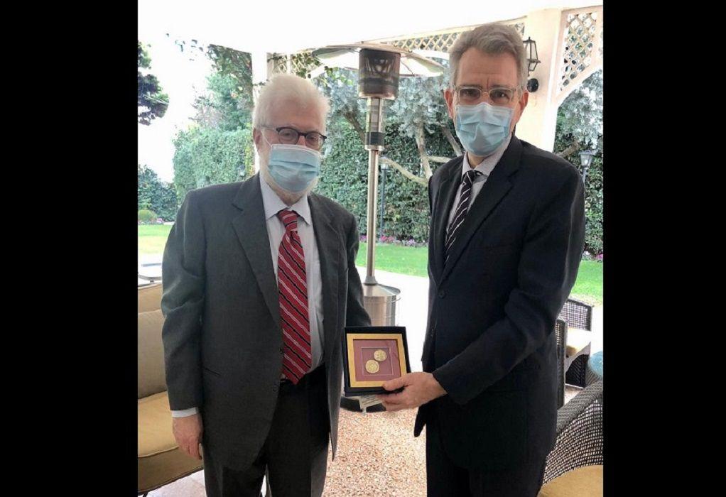 Συνάντηση του Μωυσή Ελισάφ με τον Πρέσβη των Η.Π.Α. στην Ελλάδα